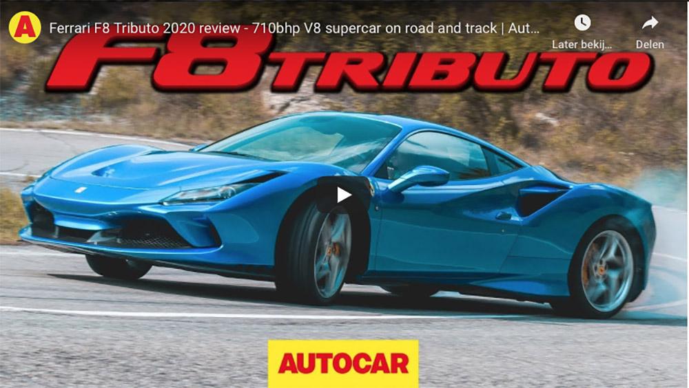 Filmpje: Autocar jaagt de Ferrari F8 Tributo tot het uiterste