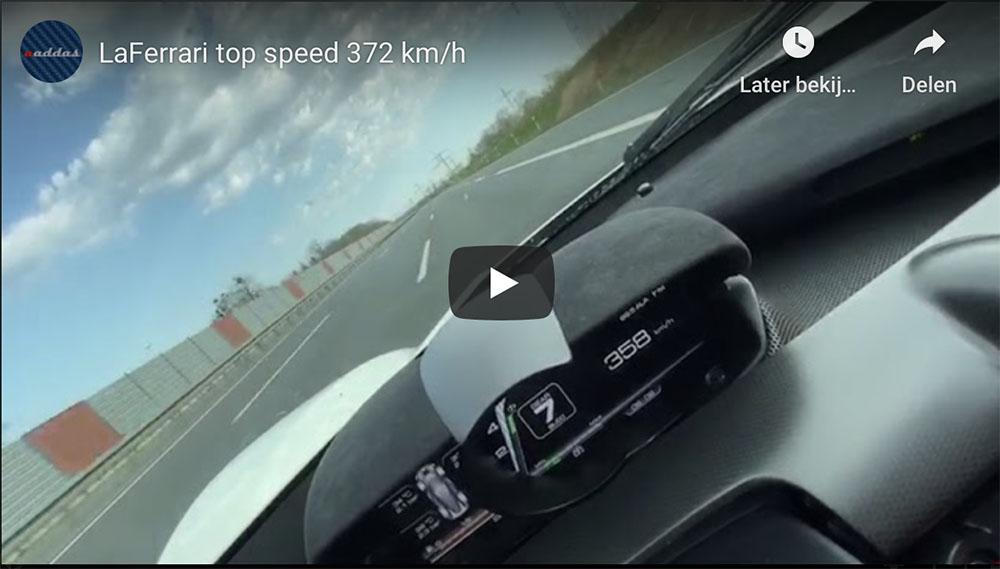 Movie: Ferrari LaFerrari does 372 km/h on the autobahn