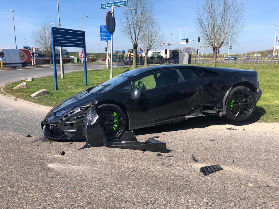 Lamborghini Huracán LP610-4 heeft pijnlijk momentje