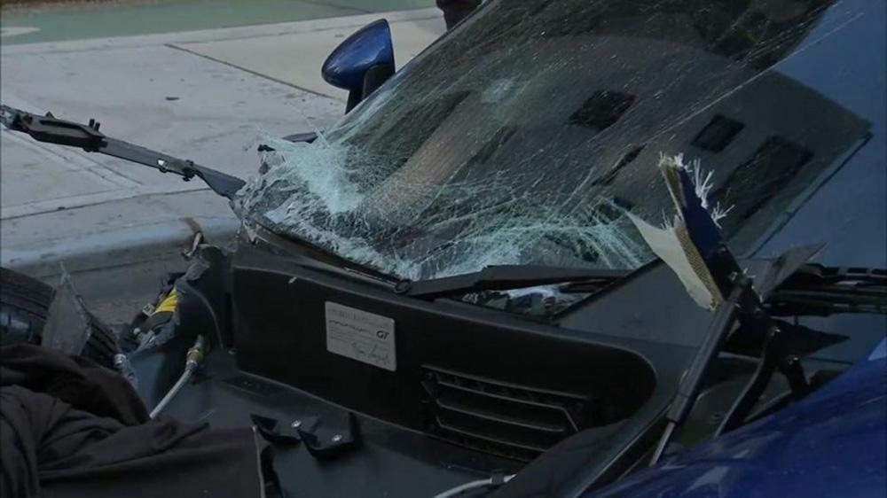 Porsche Gemballa Mirage GT crasht in New York na achtervolging