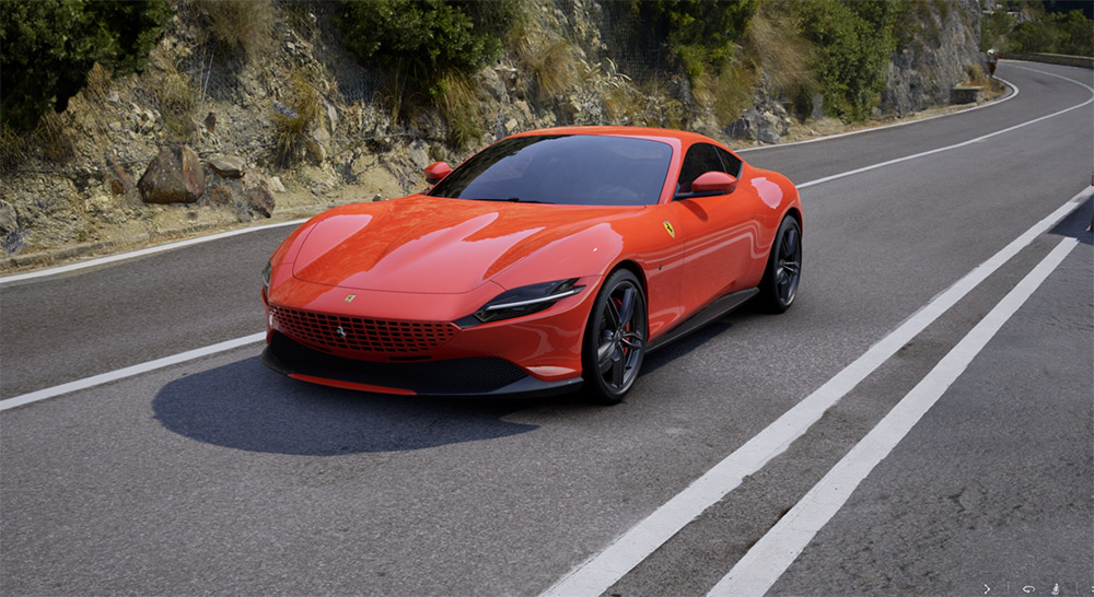 Tijd om je tijd te verdoen in de Ferrari Roma configurator