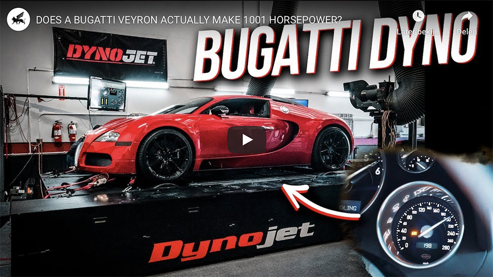 Filmpje: produceert een Bugatti Veyron eigenlijk wel echt 1.001 pk?
