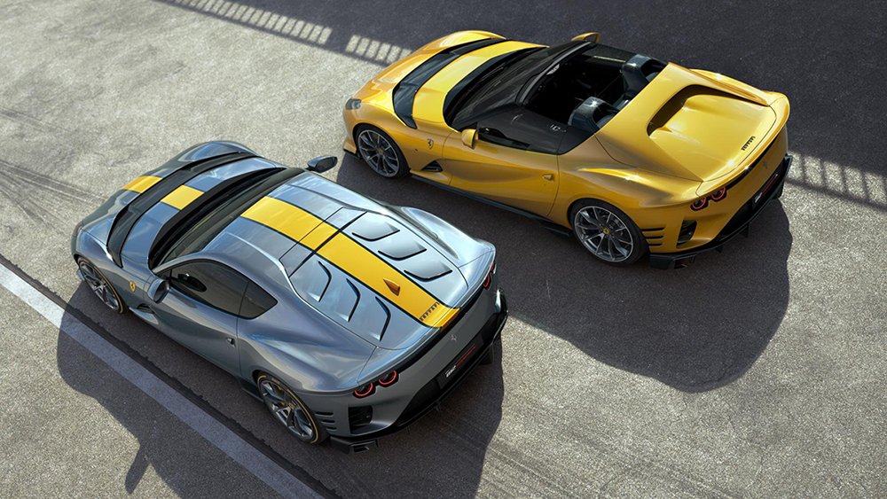 Ferrari shows not one, but two versions of the 812 Competizione