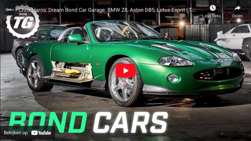 Filmpje: een kijkje in een garage vol met James Bond auto's