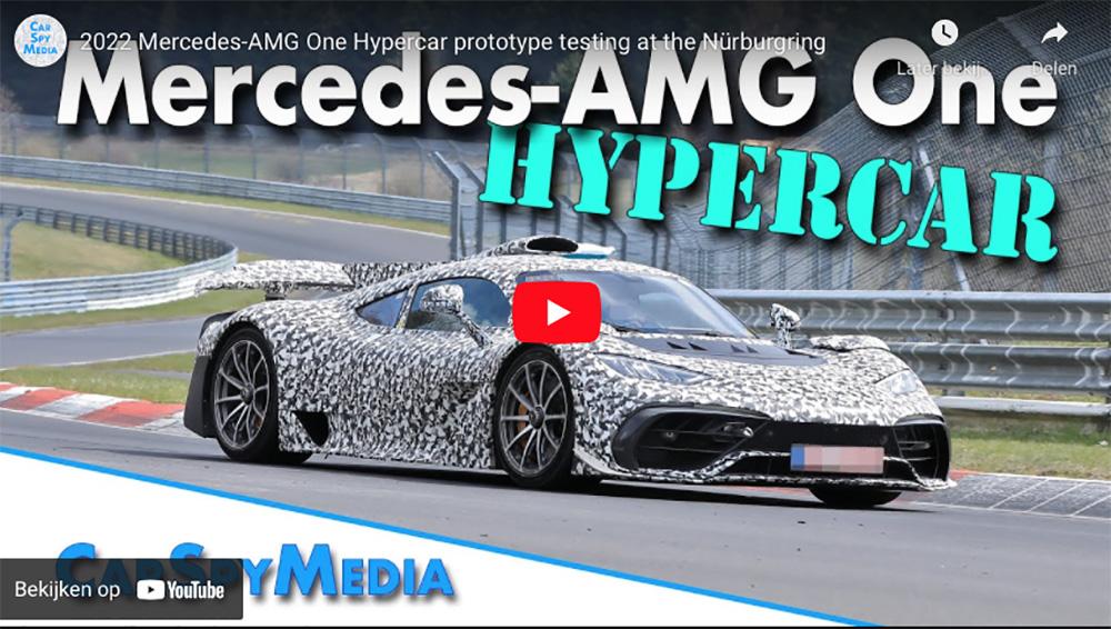 Bewegend beeld van de Mercedes-AMG Project One