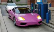 Strange sighting: Purple Ferrari 360 Spider
