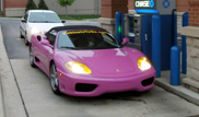 Strange sighting: Purple Ferrari 360 Spider