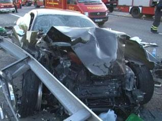 Alweer raak helaas: Twee doden bij crash met een Ferrari 612 Scaglietti