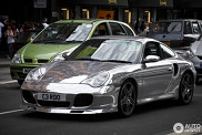 Always shiny: Porsche 996 Turbo in chrome