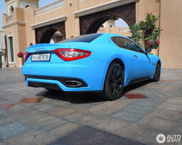 Very cool in baby blue: Maserati GranTurismo S