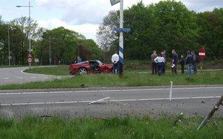 Corvette crasht tijdens Spring Event 2012