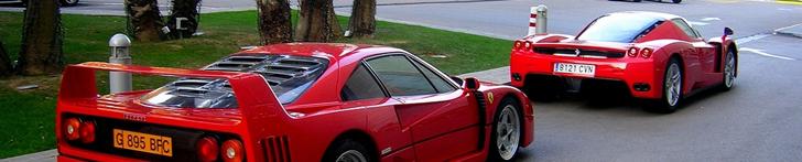 Two icons together: Ferrari Enzo Ferrari and a Ferrari F40!