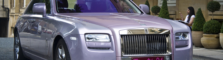 Strange sighting: pink Rolls-Royce Ghost in London