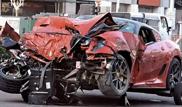 Crash of Ferrari 599 GTO