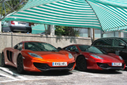 Beautiful colours on a McLaren MP4-12C