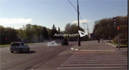 Audi R8 causes an accident