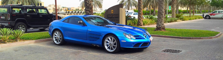 Spotted: beautiful blue colour on a Mercedes-Benz SLR McLaren!