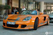 Orange super-Porsche spotted: Porsche Carrera GT TechArt