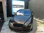From brass to brown: Bentley Continental GT with an alligator wrap