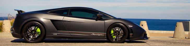 Une Lamborghini Gallardo LP570-4 Superleggera Edizione Tecnica balaise