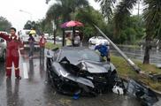 Lamborghini Aventador LP 700-4 sudauzyta Tailande