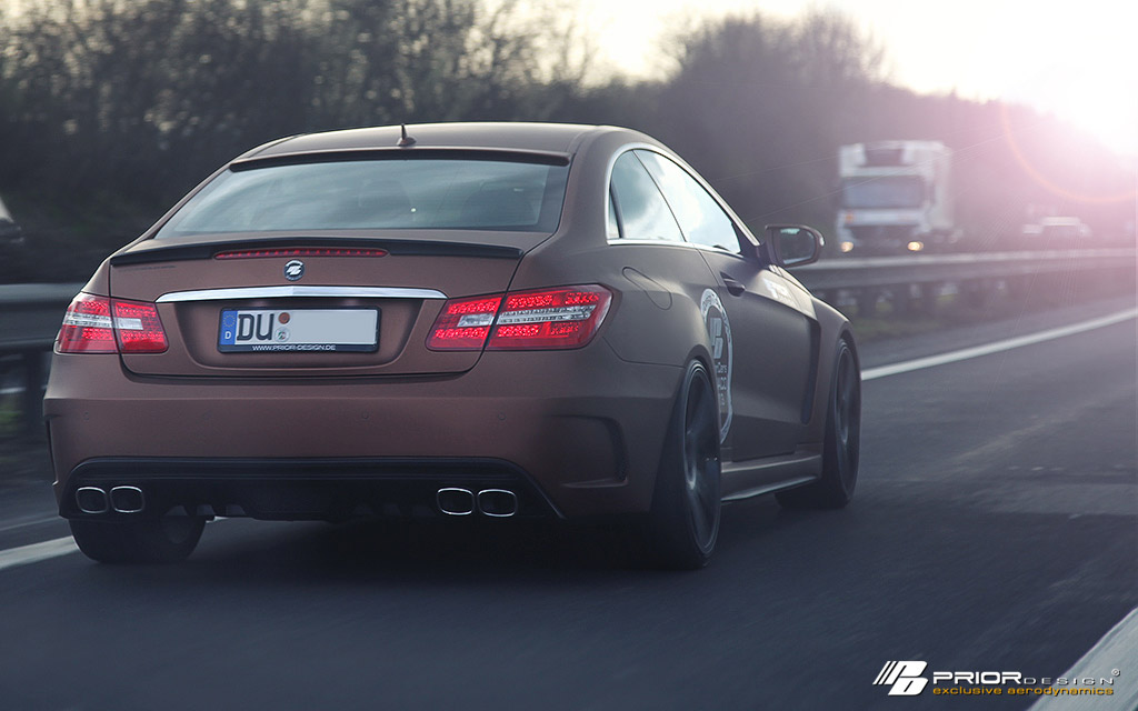 Prior Design Makes The Mercedes Benz E Class Coupe Very Wide