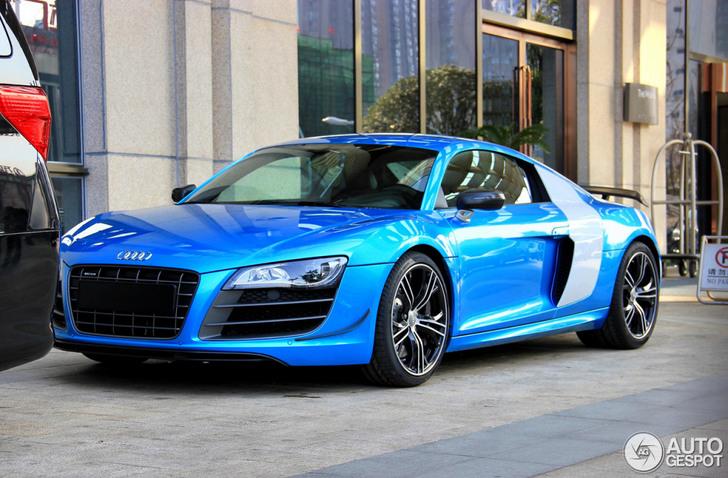 La première Audi R8 V10 China Edition est formidable en bleu