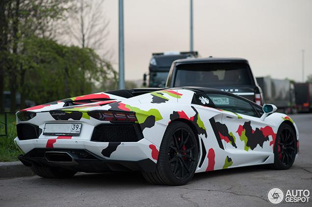 Trendy wrap on this Lamborghini Aventador LP700-4