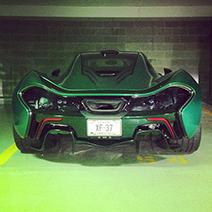 Dit is een milieuvriendelijke gekleurde McLaren P1