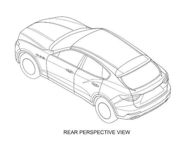 Dit is de Maserati Levante op patent tekeningen