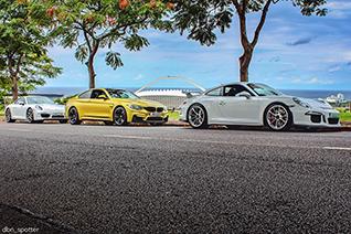 Sportauto's stralen samen in Durban
