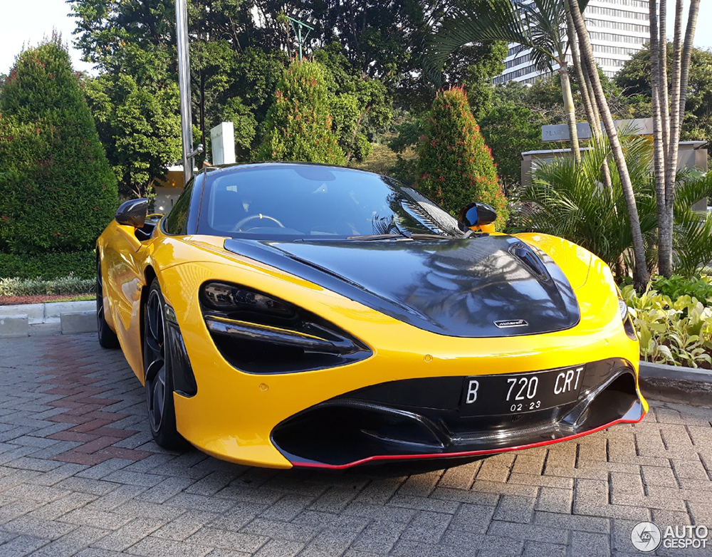Exciting spot of a McLaren 720S in Jakarta