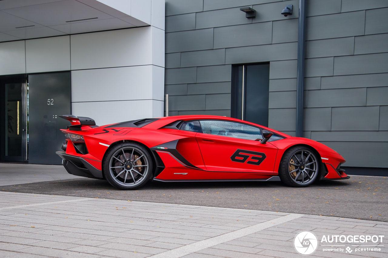 Aanschouw de Lamborghini Aventador LP770-4 SVJ 63 editie