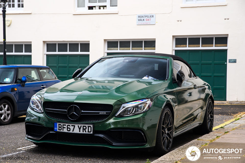 Mercedes-AMG C 63 Convertible doet het goed in groen