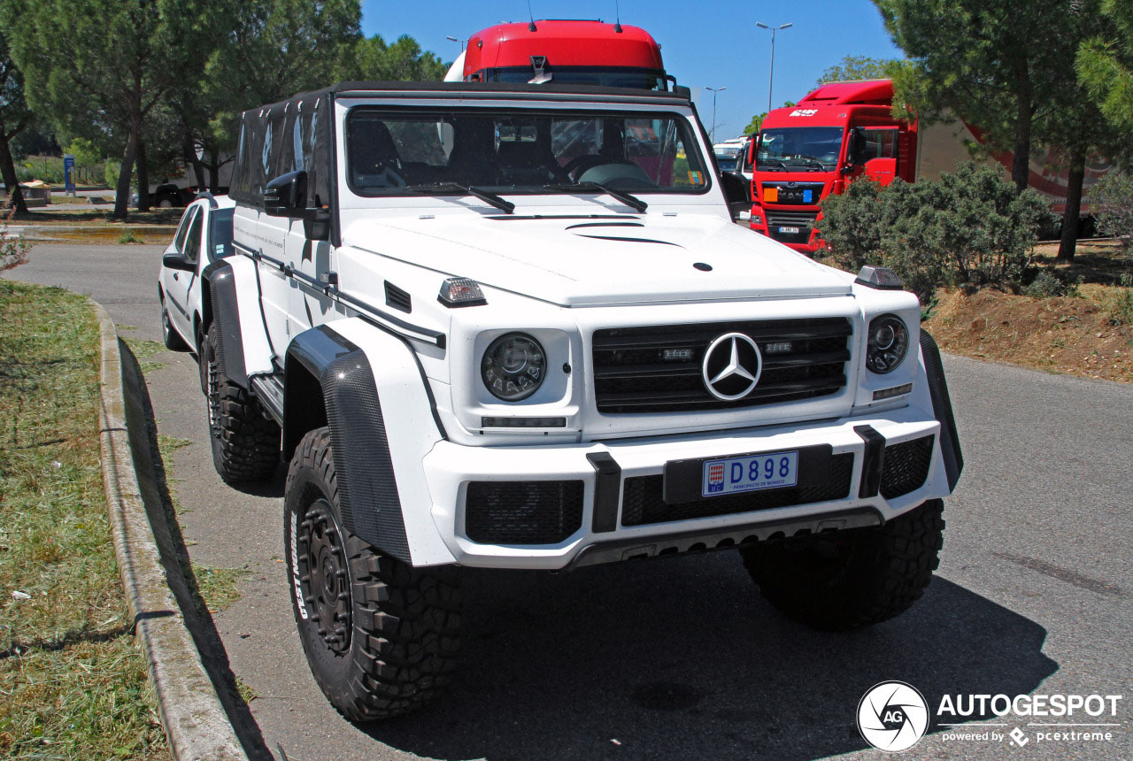 Mercedes-Benz G 500 4X4² Marbella Mode gespot met dak
