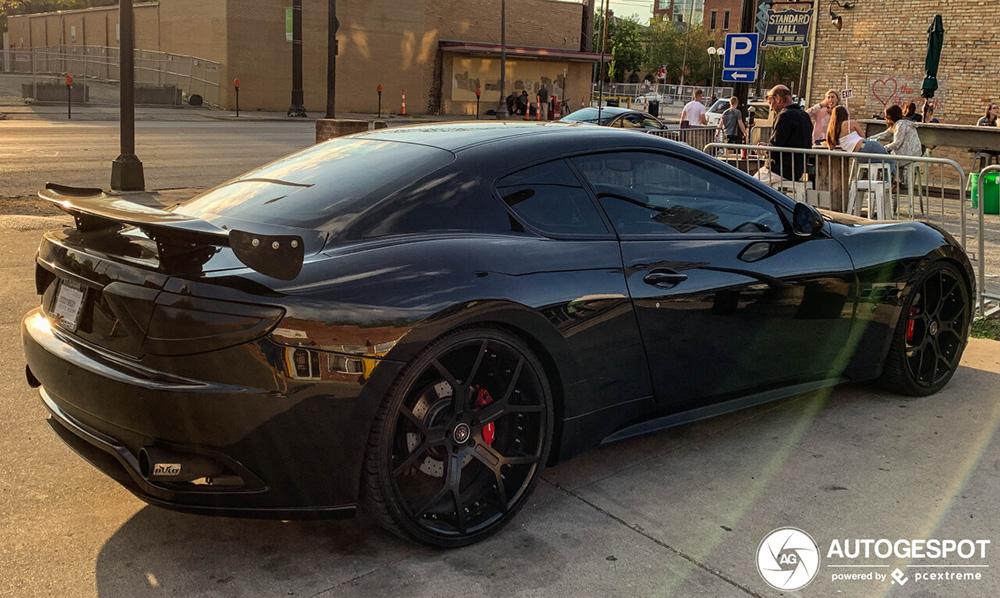 Maserati GranTurismo omgetoverd tot racemonster