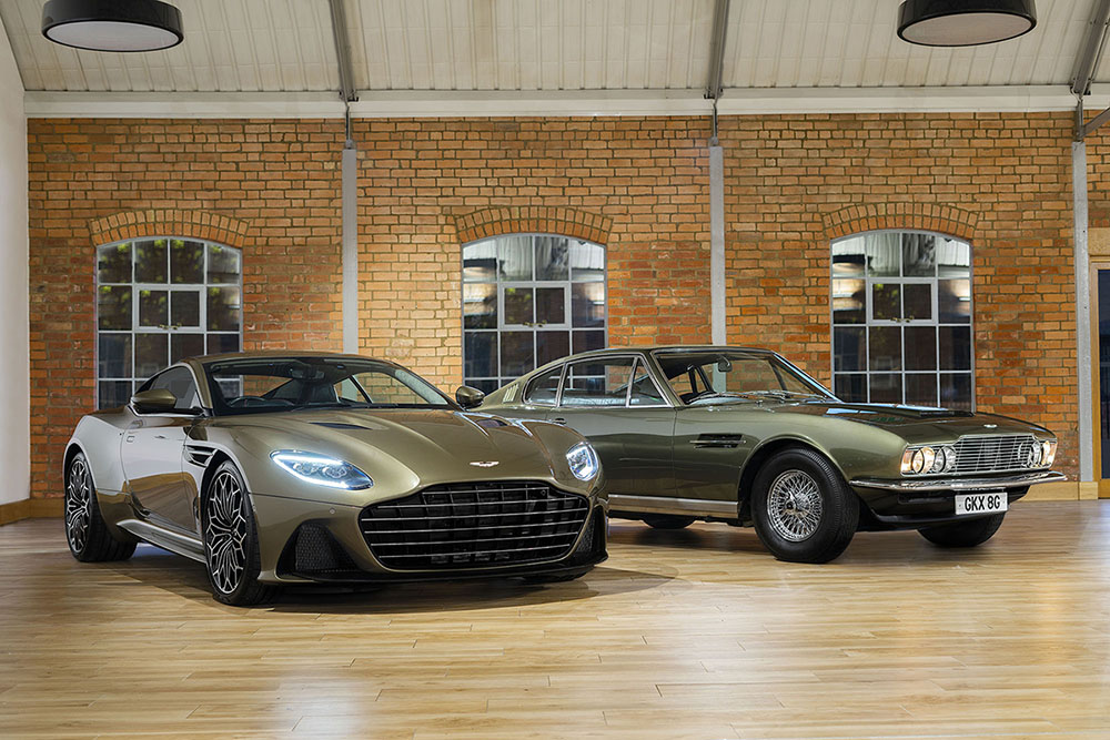 Aston Martin DBS Superleggera op James Bond geïnspireerd