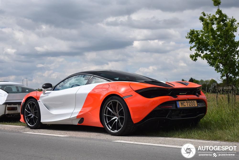 Gespot: McLaren 720S met speciale livery