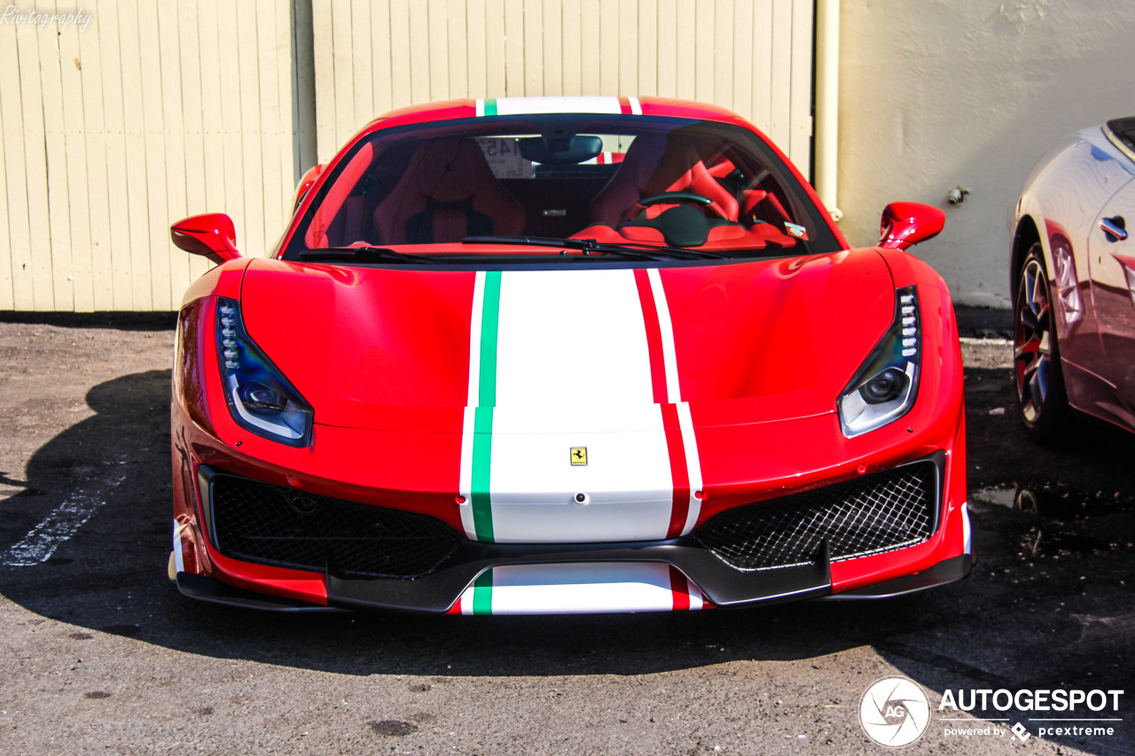 Ferrari 488 Pista is een knappe verschijning geworden