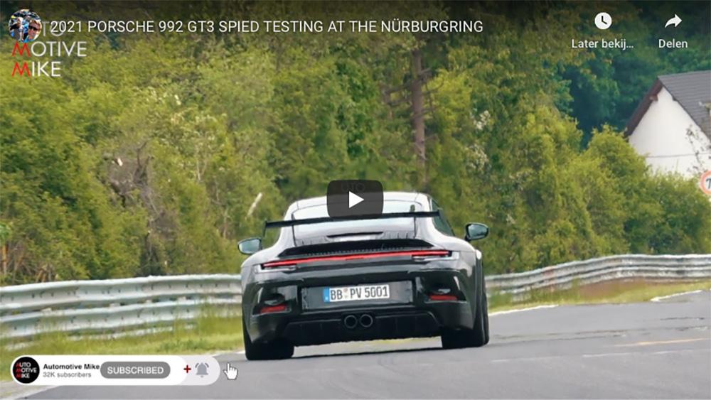 Porsche 992 GT3 gaat compleet uit zijn dak op Nürburgring