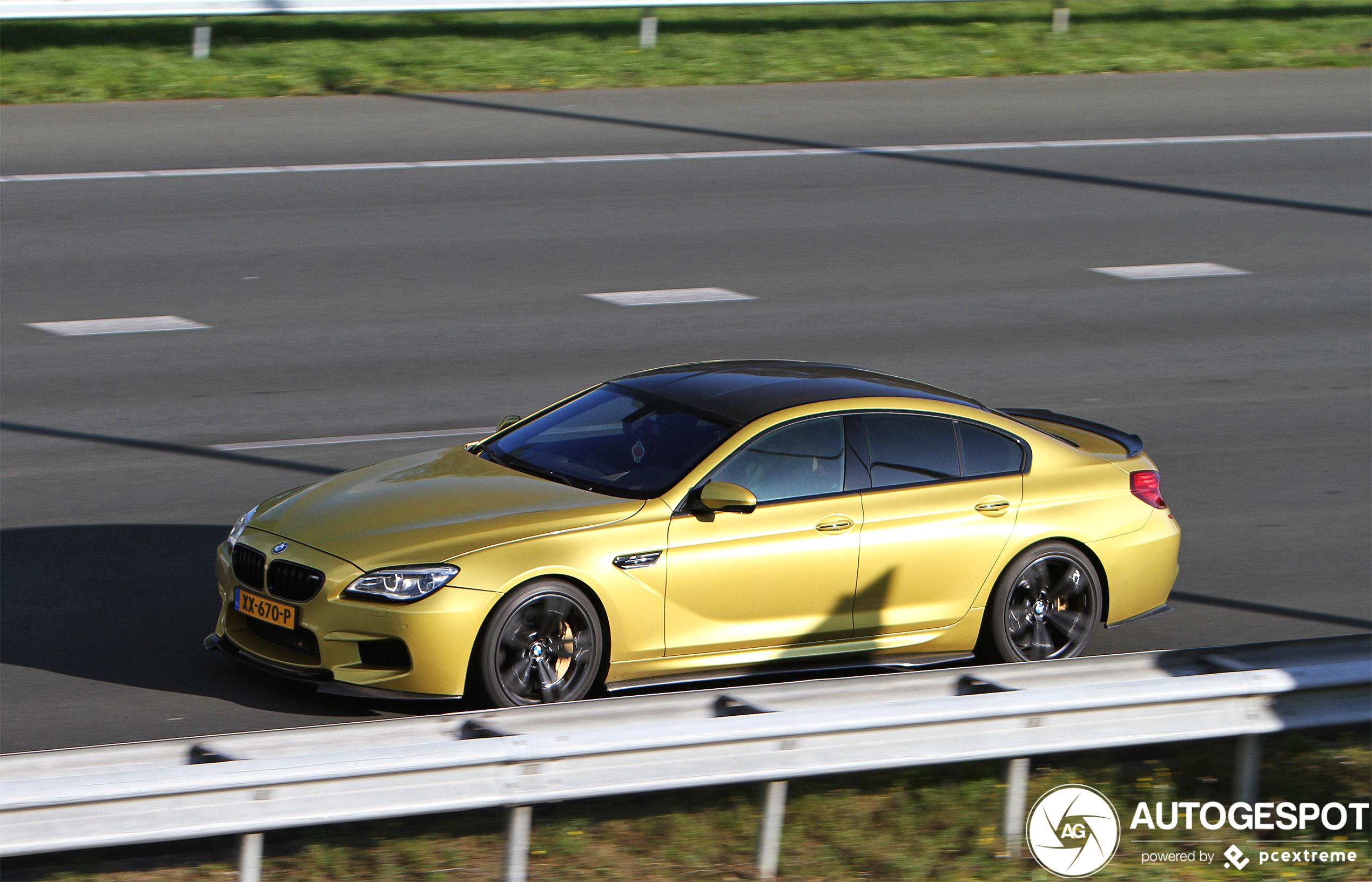 Opvallend gekleurde BMW M6 pas voor de tweede keer gespot