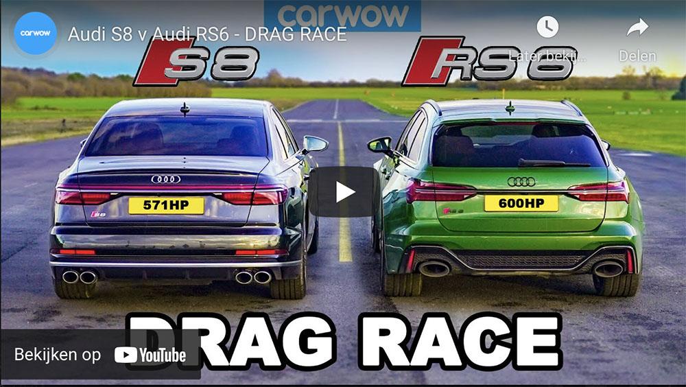 Audi S8 neemt het op tegen Audi RS6 Avant
