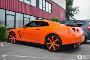 Strange sighting: Nissan GT-R in orange