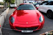 Spotted: Ferrari 612 Scaglietti in red chrome