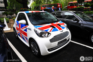 Aston Martin Cygnet with matching sticker spotted!