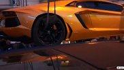 Une Lamborghini Aventador LP700-4 s'en va à la fourrière de St-Tropez