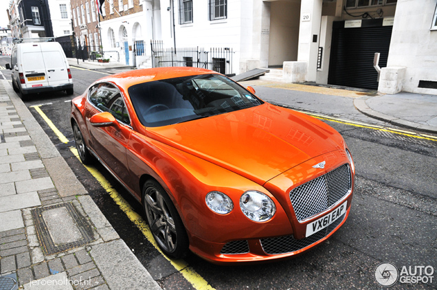 Spotted Beautiful Orange Bentley Continental Gt 2012