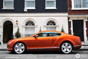 Spotted: beautiful orange Bentley Continental GT 2012