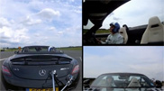 Movie: catch a golf ball in your Mercedes-Benz SLS AMG Roadster
