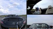 Filmpje: golfbal vangen met een Mercedes-Benz SLS AMG Roadster